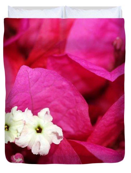 Pink Bouganvillea Duvet Cover by Sabrina L Ryan