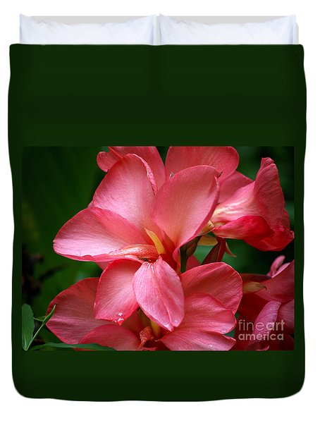 Pink Canna Duvet Cover