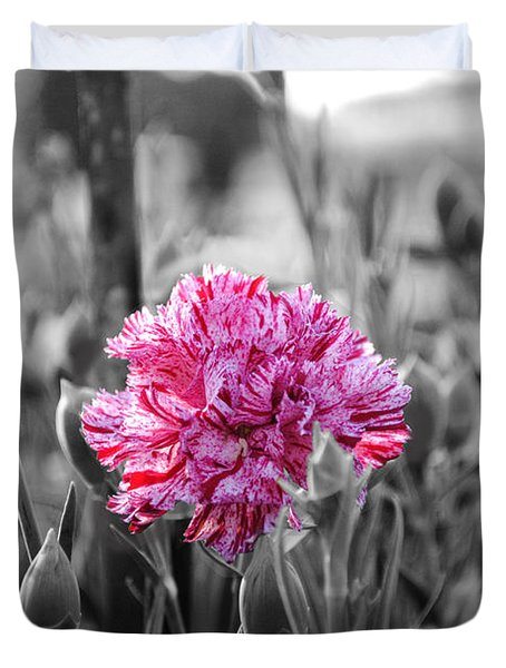 Pink Carnation Duvet Cover