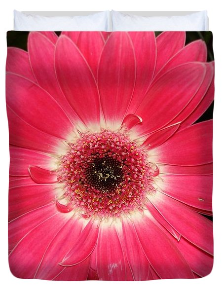 Duvet Cover featuring the photograph Pink Gerbera Daisy by Kerri Mortenson