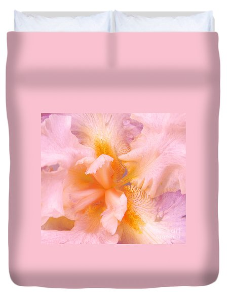 Pink Iris Duvet Cover by Cindy Lee Longhini