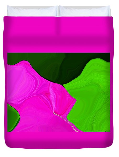 Pink Pathway Duvet Cover