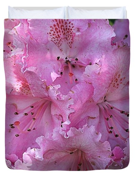 Duvet Cover featuring the photograph Pink Rhododendrons by Chriss Pagani