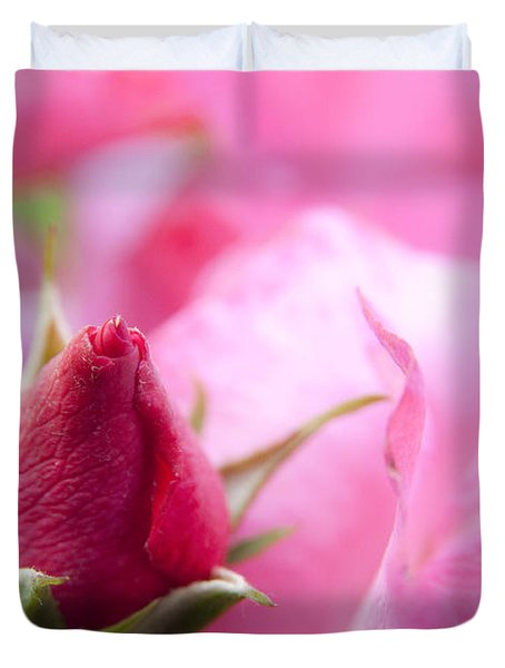 Duvet Cover featuring the photograph Pink Rose by Jeannette Hunt