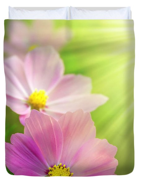 Pink Spring Duvet Cover by Carlos Caetano