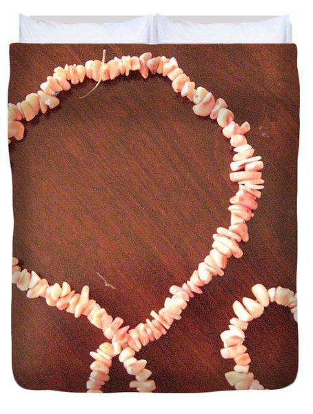 Pink Stone Necklace Bracelet Duvet Cover by Sonali Gangane