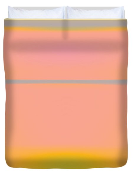 Pink Yellow And Grey Duvet Cover by Gary Grayson