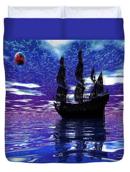 Pirate Ship Duvet Cover by Matthew Lacey