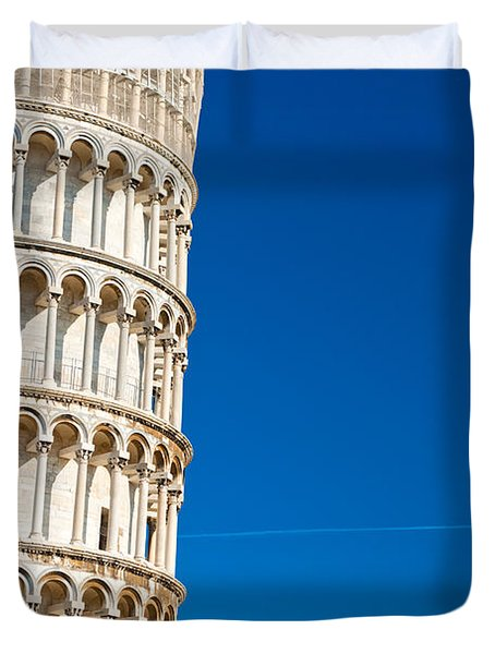 Duvet Cover featuring the photograph Pisa Leaning Tower by Luciano Mortula