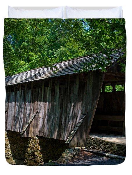 Pisgah Covered Bridge Duvet Cover