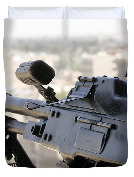 Pkm 7.62 Machine Gun Nest On Top Duvet Cover by Terry Moore