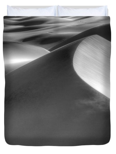 Platinum Dunes Duvet Cover by Bob Christopher