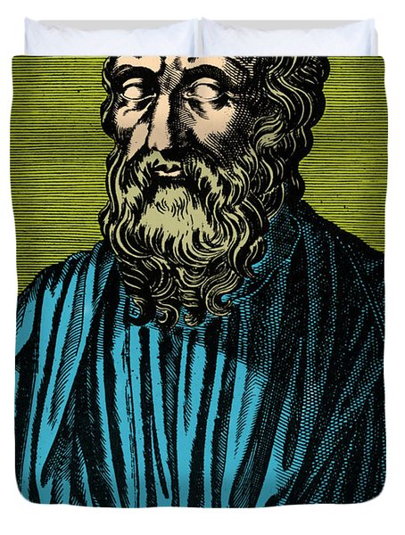 Plato, Ancient Greek Philosopher Duvet Cover by Photo Researchers