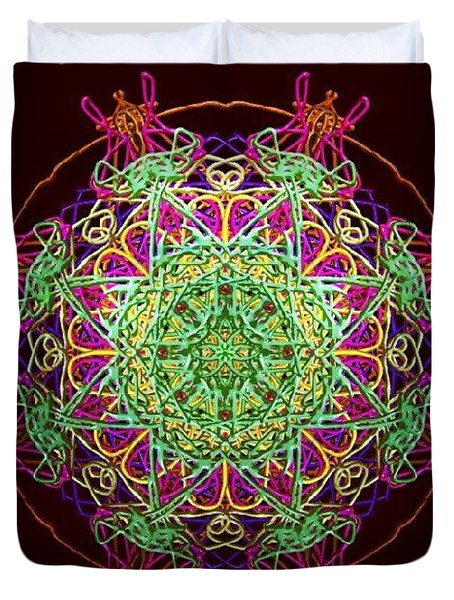 Playing Mandala Duvet Cover