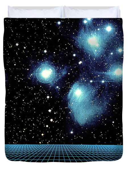 Pleiades In Taurus Duvet Cover by Science Source