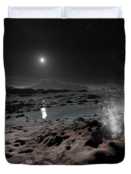 Pluto May Have Springs Of Liquid Oxygen Duvet Cover by Ron Miller