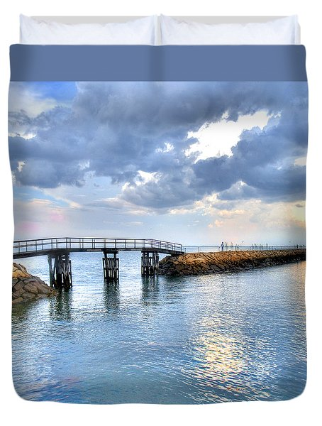 Plymouth Sunset Duvet Cover by Tammy Wetzel