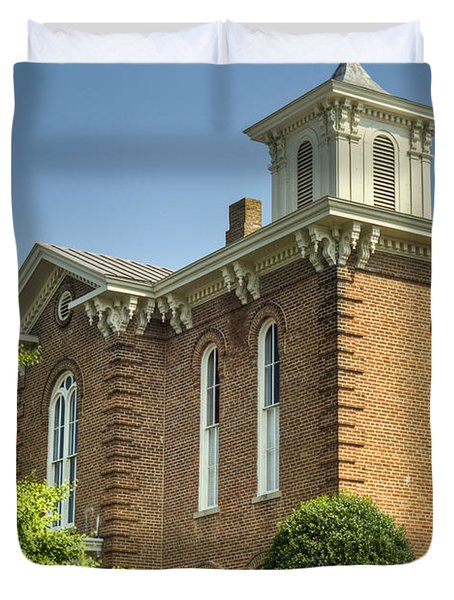 Pocahontas Arkansas Courthouse Duvet Cover by Douglas Barnett