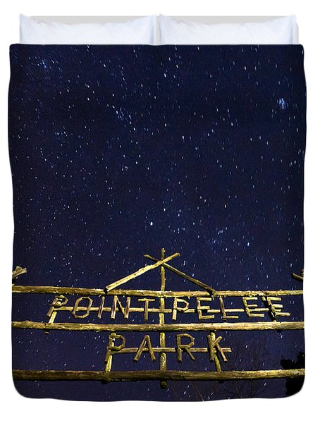 Point Pelee Under The Stars Duvet Cover by Cale Best