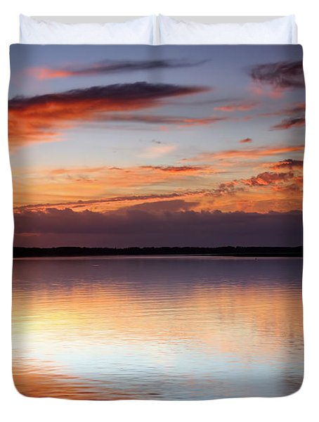 Pointing South Duvet Cover by Phill Doherty