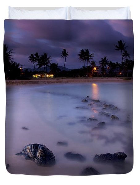 Poipu Evening Storm Duvet Cover by Mike  Dawson