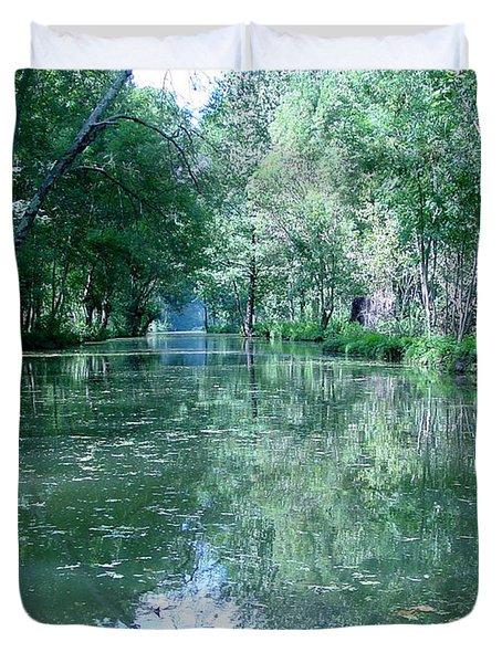 Poitevin Marsh Duvet Cover by Poitevin Marsh