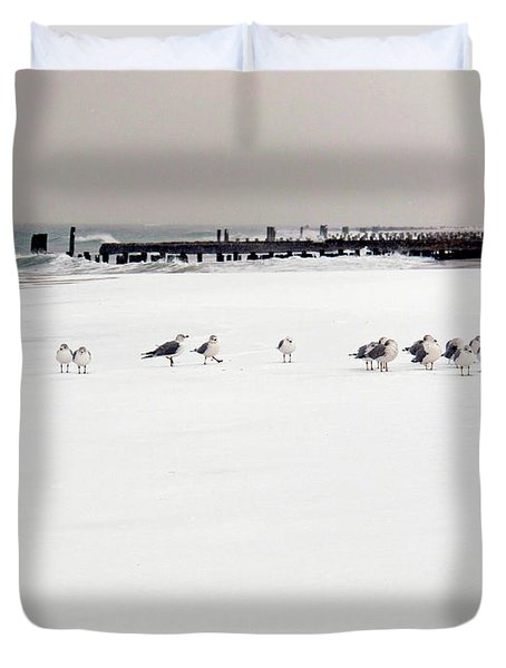 Polar Bird Club Duvet Cover