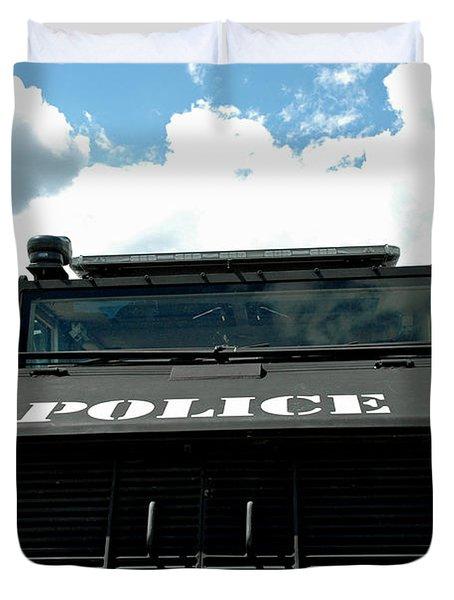 Police Force Duvet Cover by LeeAnn McLaneGoetz McLaneGoetzStudioLLCcom