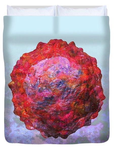 Polio Virus Particle Or Virion Poliovirus 2 Duvet Cover