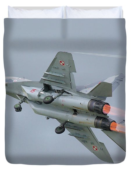 Polish Air Force Mig-29 Duvet Cover by Tim Beach