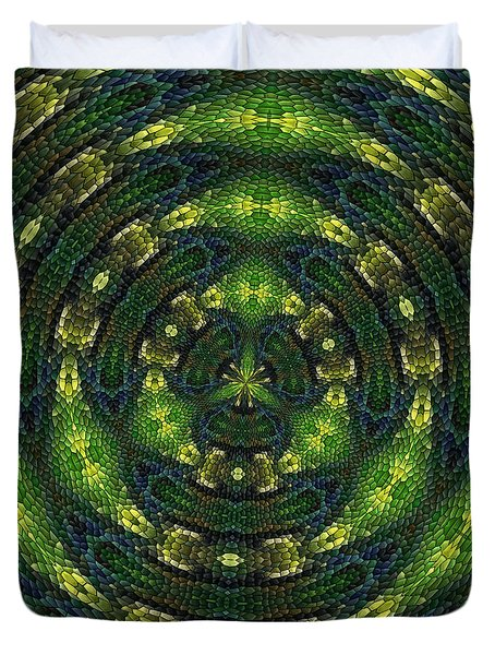 Duvet Cover featuring the digital art Pond Perfect by Alec Drake