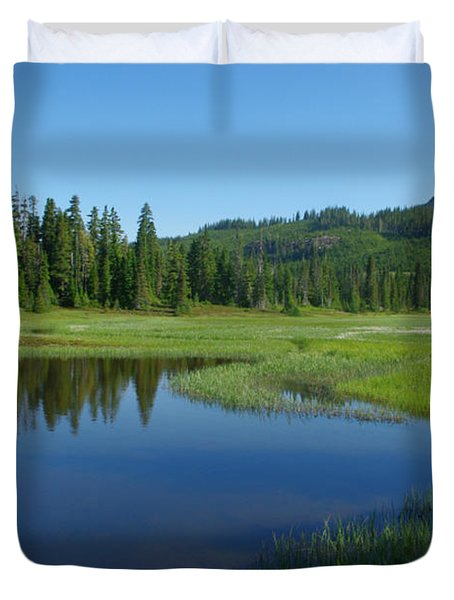 Pond Reflection Duvet Cover