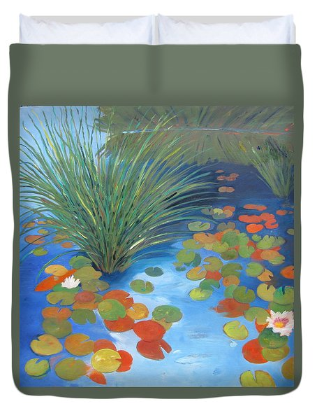 Pond Revisited Duvet Cover by Gary Coleman