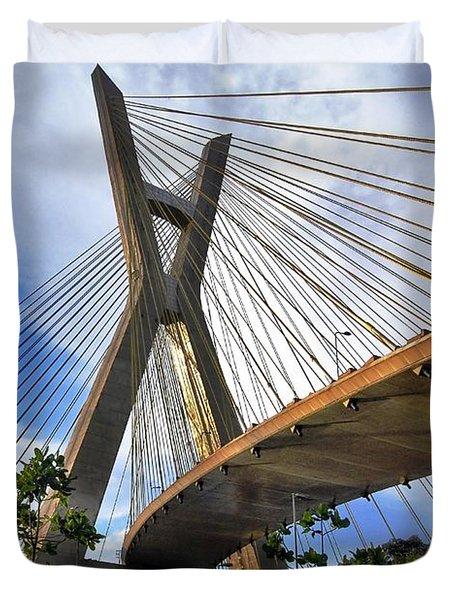 Ponte Estaiada Octavio Frias De Oliveira Ao Cair Da Tarde Duvet Cover