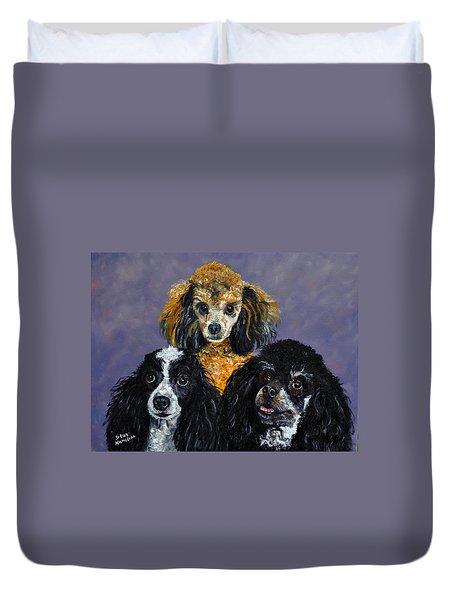 Poodles Duvet Cover by Stan Hamilton
