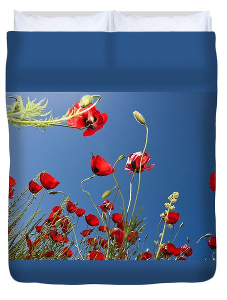 Poppy Field Duvet Cover by Ayhan Altun