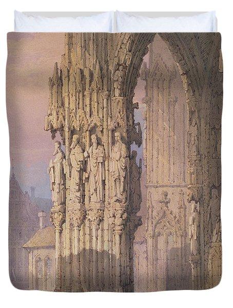 Porch Of Regensburg Cathedral Duvet Cover