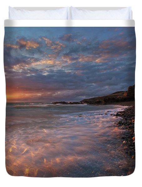 Porth Swtan Cove Duvet Cover