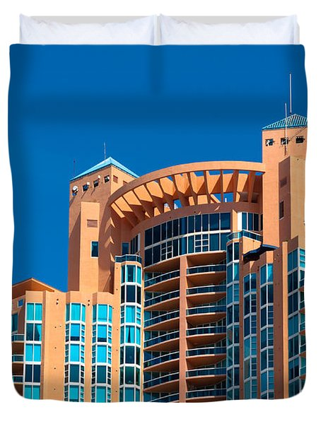 Portofino Tower At Miami Beach Duvet Cover