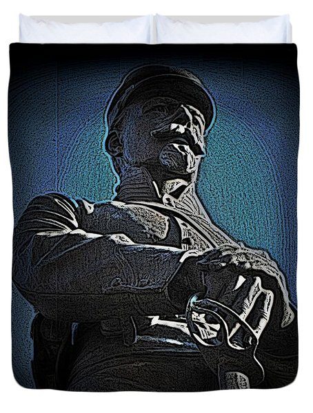Portrait 36 American Civil War Duvet Cover by David Dehner