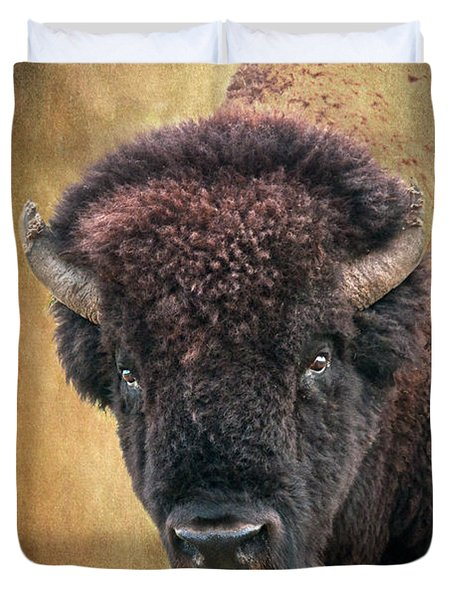 Portrait Of A Buffalo Duvet Cover