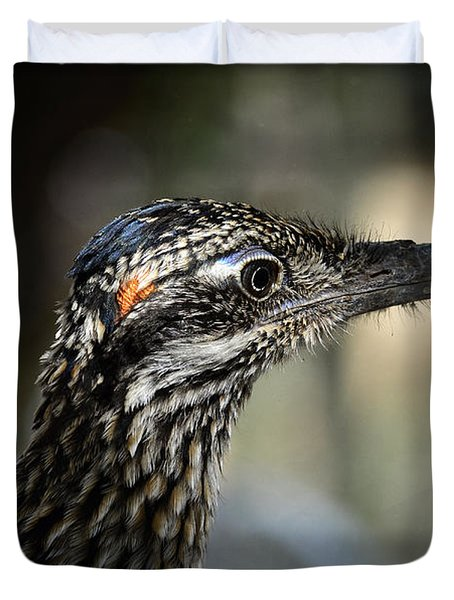 Portrait Of A Roadrunner  Duvet Cover