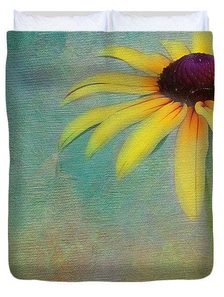Portrait Of A Sunflower Duvet Cover by Judi Bagwell