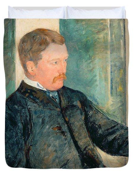Portrait Of Alexander J. Cassatt Duvet Cover by Mary Stevenson Cassatt