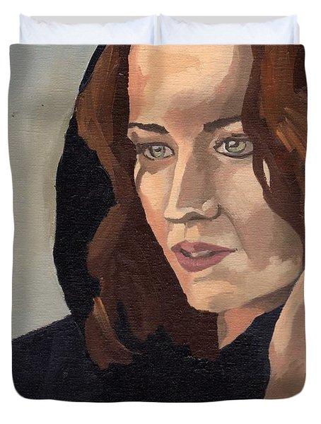 Portrait Of Becca 2 Duvet Cover