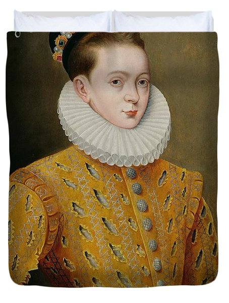 Portrait Of James I Of England And James Vi Of Scotland  Duvet Cover by Adrian Vanson