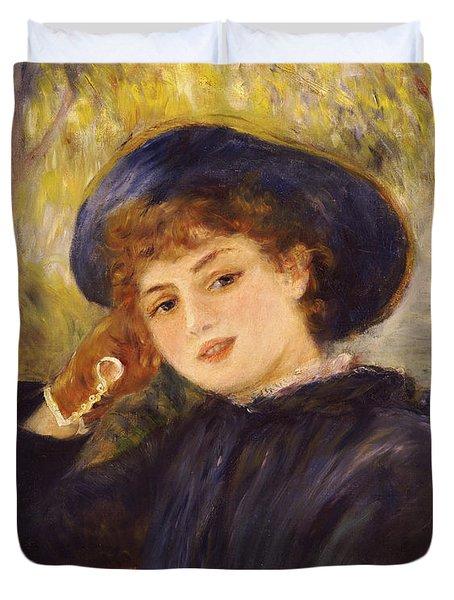Portrait Of Mademoiselle Demarsy Duvet Cover by Pierre Auguste Renoir