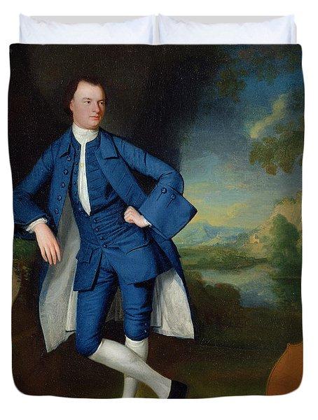 Portrait Of Man Duvet Cover by George Romney