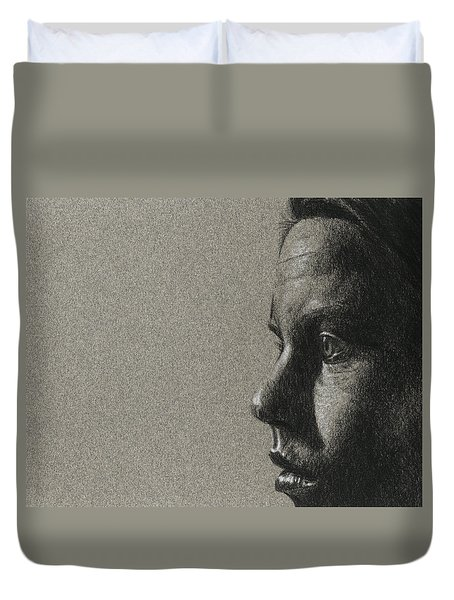 Portrait Of S Duvet Cover by David Kleinsasser