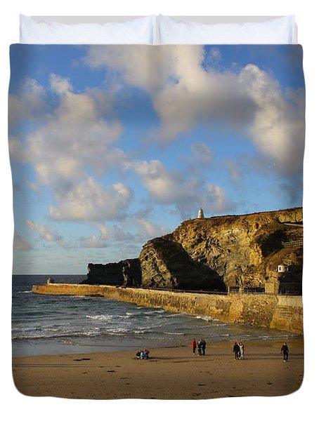 Portreath Beach Duvet Cover by Ken Brannen